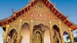 LAOS, the magnificent BUDDHIST TEMPLES of the Royal City of LUANG PRABANG