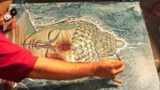 SG: Buddha Shot, Stencil Art Canvas