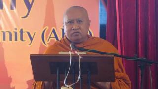 """พระศรีธวัชเมธี เข้าร่วมประชุม """"Association of ASEAN Bhuddhist Community"""" ณ Karaweik Palace นครย่างกุ้ง ประเทศเมียนมาร์"""