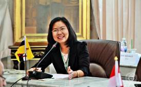 การนำเสนองานของผู้เข้าร่วมสัมนาวิจัยทางพระพุทธศาสนาเพื่อความก้าวหน้าในประชาคมอาเซียน